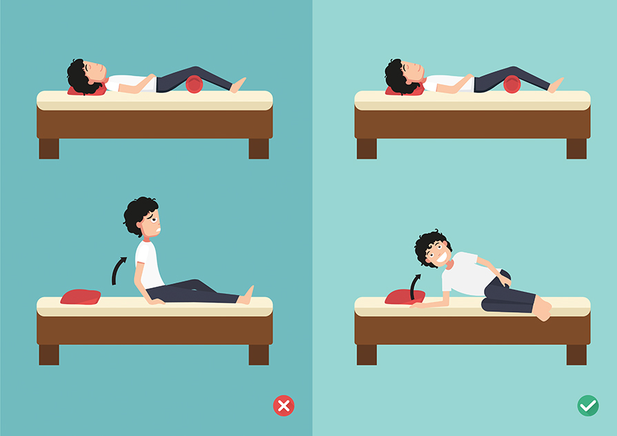 best sleeping positions after spine surgery